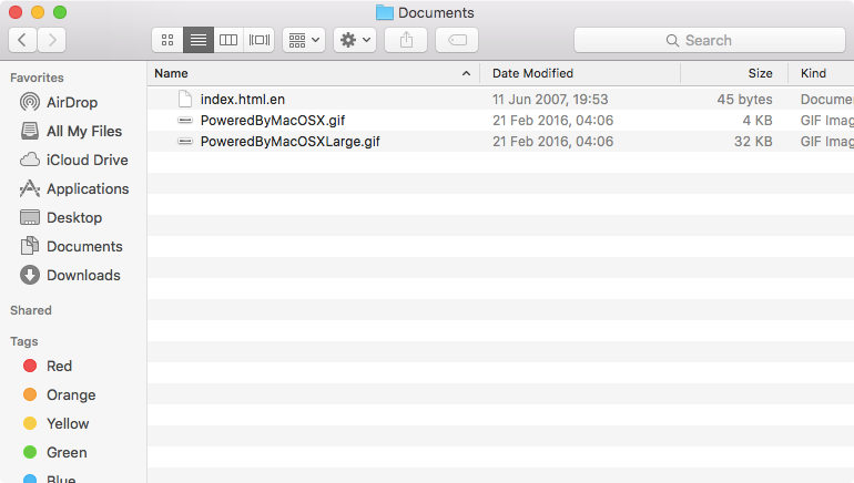 Webserver documents
